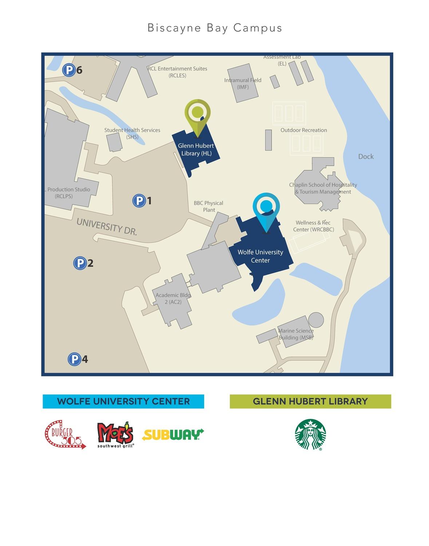 Biscayne Bay Campus Map.Dine On Campus At Florida International University