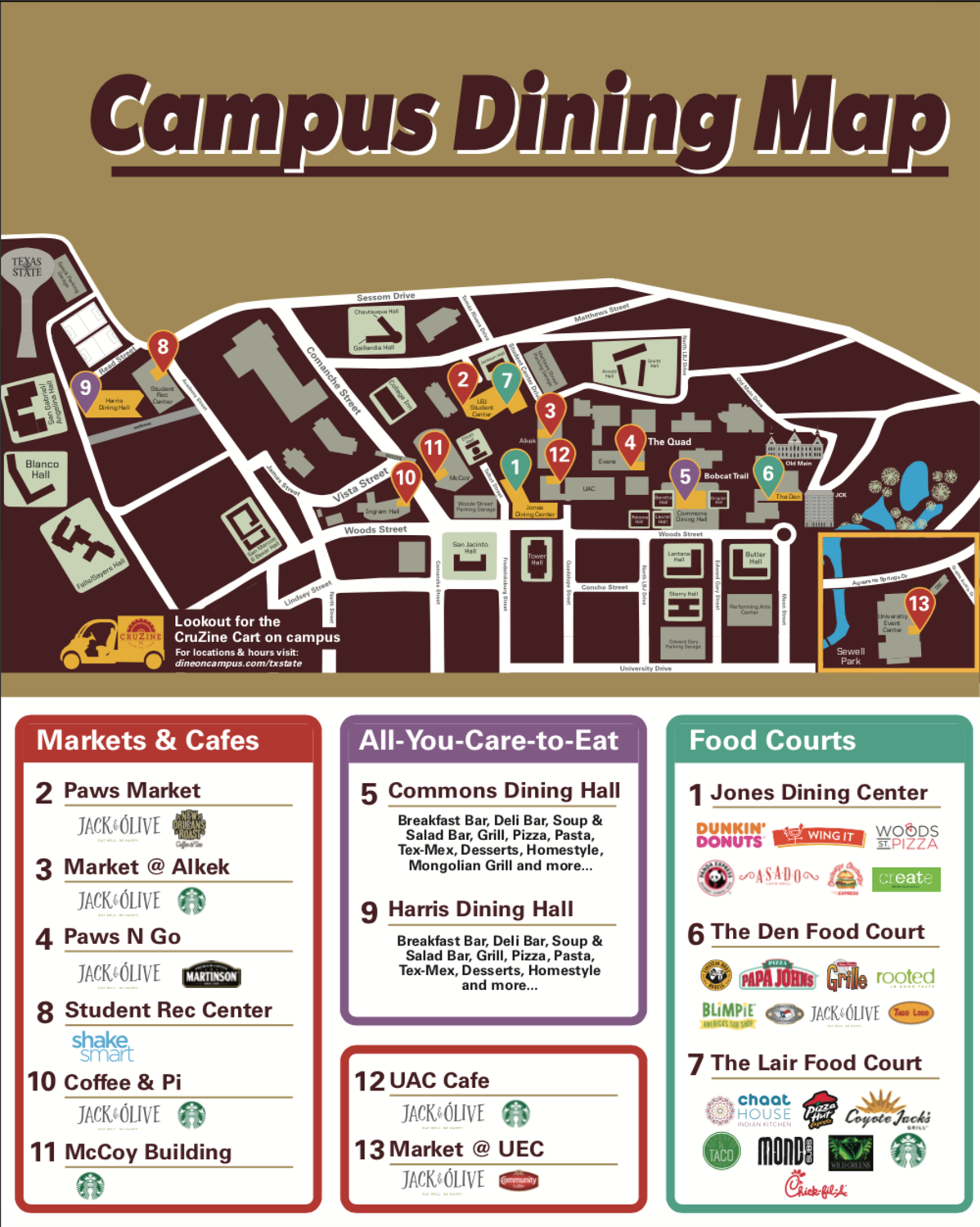Dine On Campus at Texas State University || Hours & Locations Dunkin Donuts Store Locator Map on macy's store locator, cinnabon store locator, disney store locator, subway store locator, kfc store locator, carvel store locator, fatburger store locator, bob evans store locator, stuckey's store locator, kroger store locator, donatos store locator, sunbeam bread store locator, chili's store locator, michaels store locator, victoria's secret store locator, wendy's store locator, home depot store locator, sprint store locator, wonka store locator, sonic store locator,