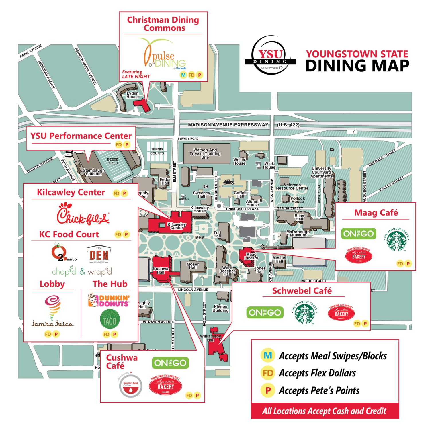 Ysu Campus Map Dine On Campus at Youngstown State University